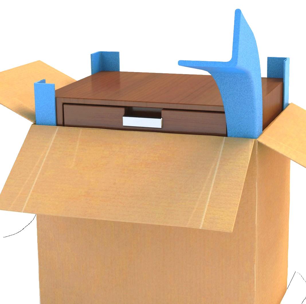 Eckenschutz im Karton - Distanz und Schutz